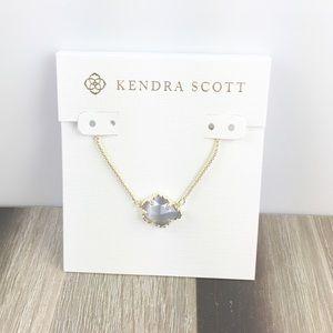 Kendra Scott Tess slate gold necklace